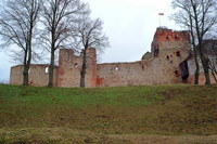 Bauska castle, view on medieval part