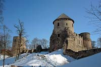 Cesis castle from the south-west