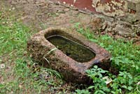 Old Balozi manor, basin for rainwater