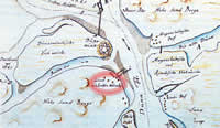 House of Bolderaja pilot in the map from 1780