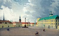 Riga Castle Square in the middle of 19th century.