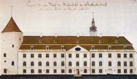 Front of Riga castle in the end of 18th century
